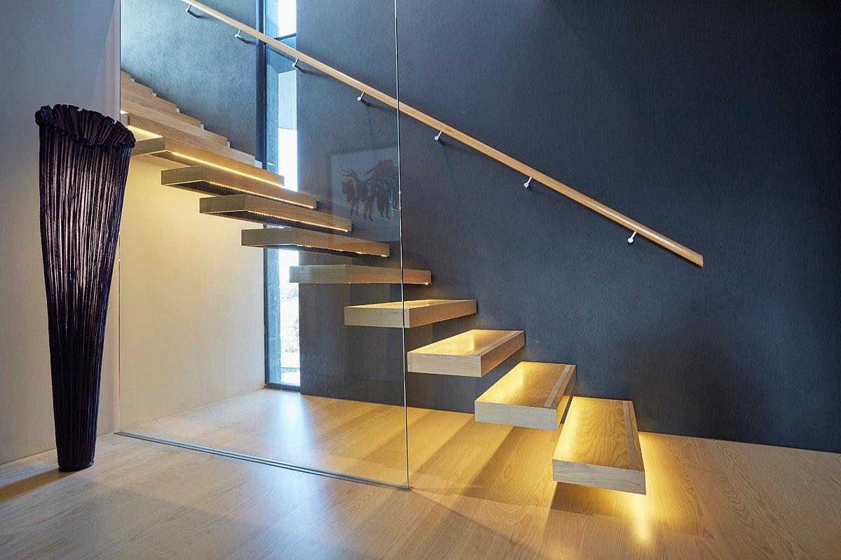 Custom stairs and handrail